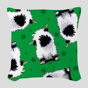 Valais Blacknose Sheep Woven Throw Pillow