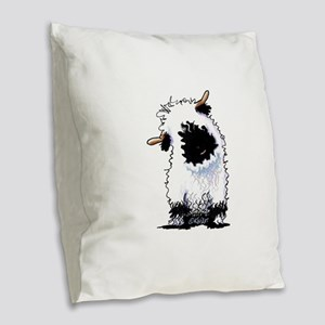 Valais Blacknose Sheep Burlap Throw Pillow