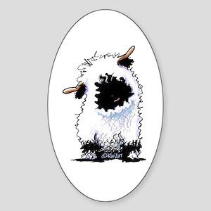 Valais Blacknose Sheep Sticker (Oval)