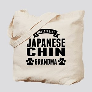 Worlds Best Japanese Chin Grandma Tote Bag