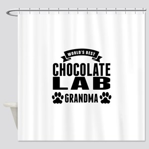 Worlds Best Chocolate Lab Grandma Shower Curtain