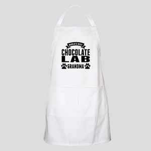 Worlds Best Chocolate Lab Grandma Apron