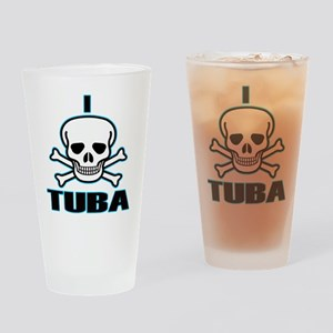 I Hate Tuba Drinking Glass