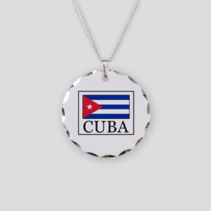 Cuba Necklace Circle Charm