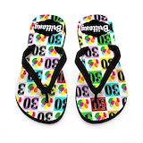 30th birthday personalized Flip Flops