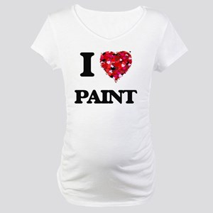 I Love Paint Maternity T-Shirt