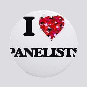 I Love Panelists Ornament (Round)
