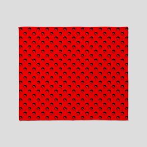red frida kahlo Throw Blanket