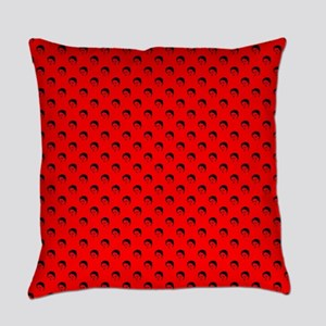 red frida kahlo Everyday Pillow
