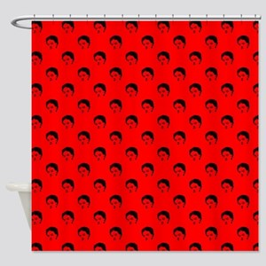 red frida kahlo Shower Curtain