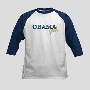 Barack Obama Girl Kids Baseball Jersey