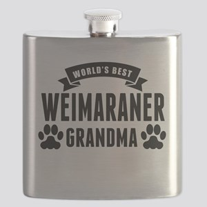 Worlds Best Weimaraner Grandma Flask