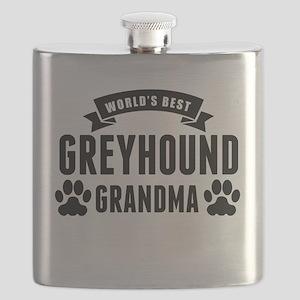 Worlds Best Greyhound Grandma Flask