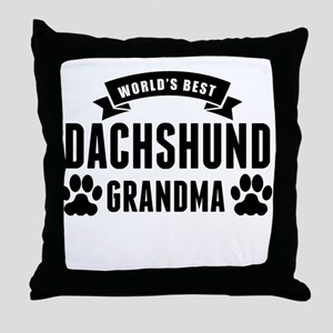 Worlds Best Dachshund Grandma Throw Pillow