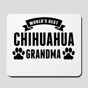 Worlds Best Chihuahua Grandma Mousepad
