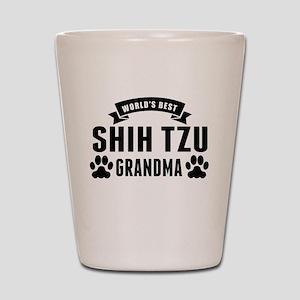Worlds Best Shih Tzu Grandma Shot Glass
