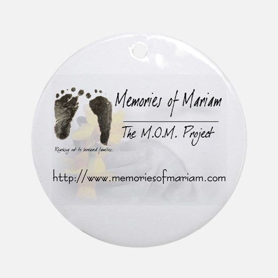The Memories of Mariam Project Keepsake (Round)