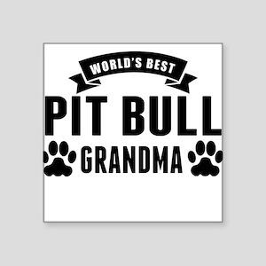 Worlds Best Pit Bull Grandma Sticker