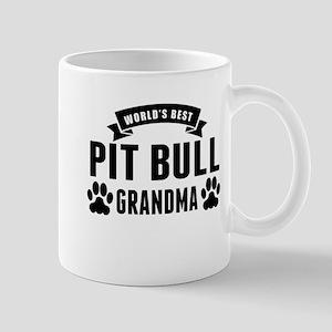 Worlds Best Pit Bull Grandma Mugs