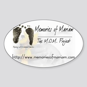 The Memories of Mariam Project Oval Sticker