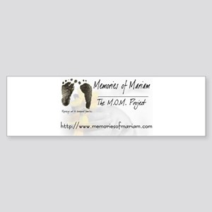 The Memories of Mariam Project Bumper Sticker