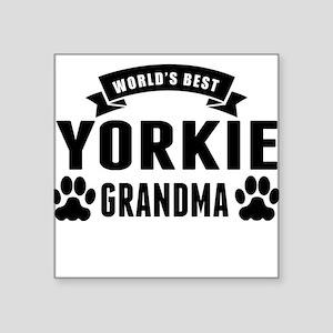 Worlds Best Yorkie Grandma Sticker