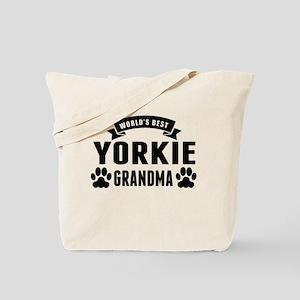 Worlds Best Yorkie Grandma Tote Bag