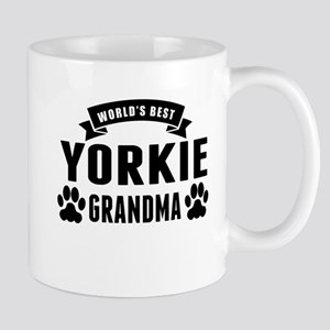 Worlds Best Yorkie Grandma Mugs