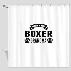 Worlds Best Boxer Grandma Shower Curtain