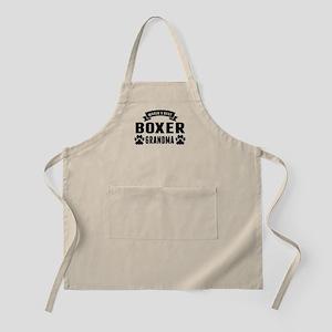 Worlds Best Boxer Grandma Apron