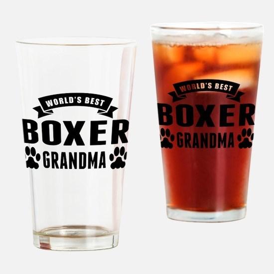Worlds Best Boxer Grandma Drinking Glass