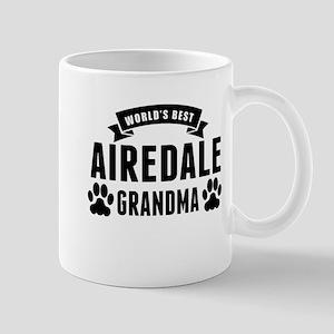 Worlds Best Airedale Grandma Mugs