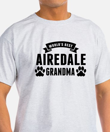Worlds Best Airedale Grandma T-Shirt