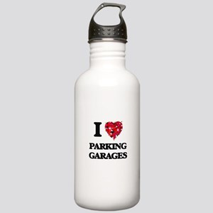 I Love Parking Garages Stainless Water Bottle 1.0L