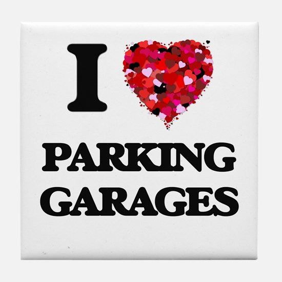 I Love Parking Garages Tile Coaster