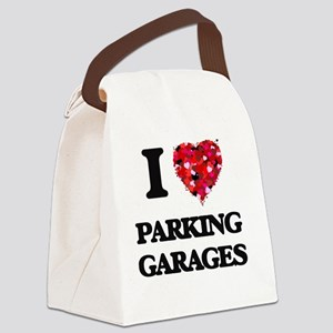 I Love Parking Garages Canvas Lunch Bag