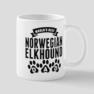 Worlds Best Norwegian Elkhound Dad Mugs