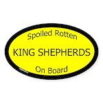 Spoiled King Shepherds On Board Oval Sticker