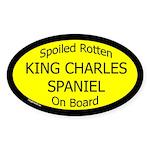 Spoiled King Charles Spaniel Oval Sticker