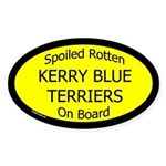 Spoiled Kerry Blue Terriers Oval Sticker