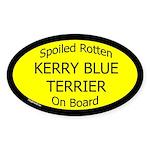 Spoiled Kerry Blue Terrier On Board Oval Sticker
