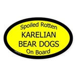 Spoiled Karelian Bear Dogs On Board Oval Sticker
