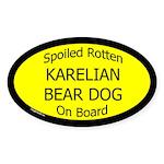 Spoiled Karelian Bear Dog On Board Oval Sticker
