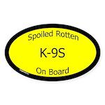 Spoiled K-9s On Board Oval Sticker