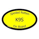 Spoiled K9s On Board Oval Sticker