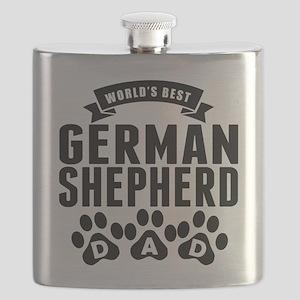 Worlds Best German Shepherd Dad Flask