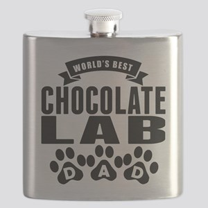 Worlds Best Chocolate Lab Dad Flask