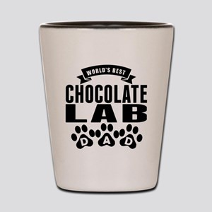 Worlds Best Chocolate Lab Dad Shot Glass