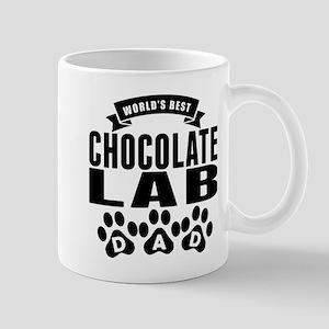 Worlds Best Chocolate Lab Dad Mugs