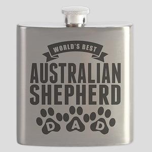 Worlds Best Australian Shepherd Dad Flask